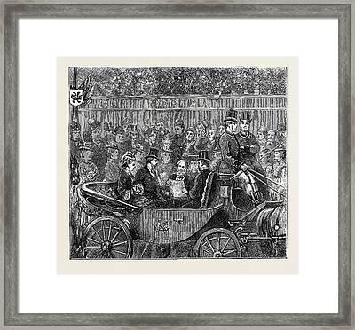 The Duke And Duchess Of Edinburgh At Ashford Reading Framed Print