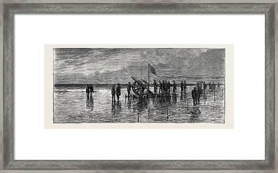 The Duke And Duchess Of Teck At Southport Experiments Framed Print