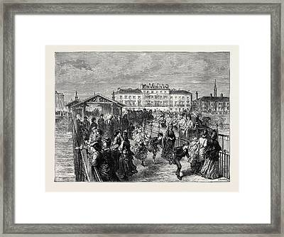 The Duke And Duchess Of Tecks Visit To Southport Framed Print