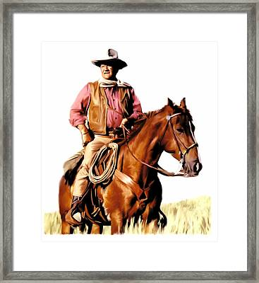 The Duke  John Wayne Framed Print