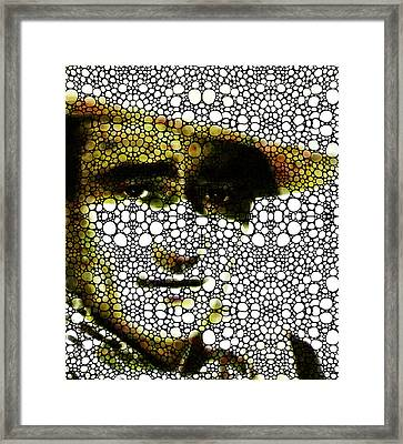 The Duke - John Wayne Tribute By Sharon Cummings Framed Print