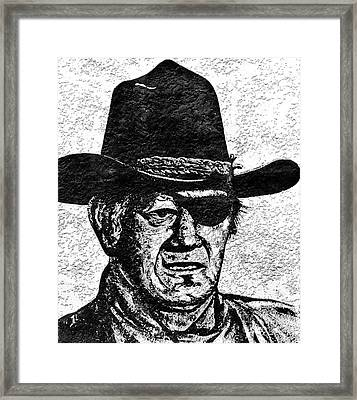 The Duke  Framed Print by Juls Adams