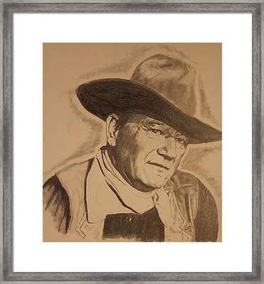 The Duke Framed Print