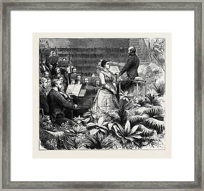 The Duke Of Edinburgh Accompanying Madame Marie Roze Framed Print by English School
