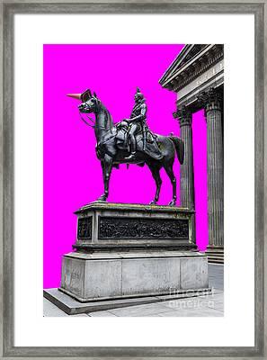 The Duke Of Wellington Cyan Framed Print by John Farnan