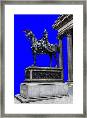 The Duke Of Wellington Goma Blue Framed Print by John Farnan