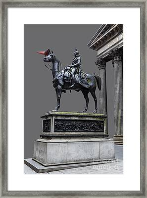 The Duke Of Wellington Goma  Grey Framed Print by John Farnan