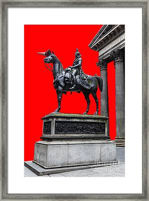 The Duke Of Wellington Red Framed Print by John Farnan