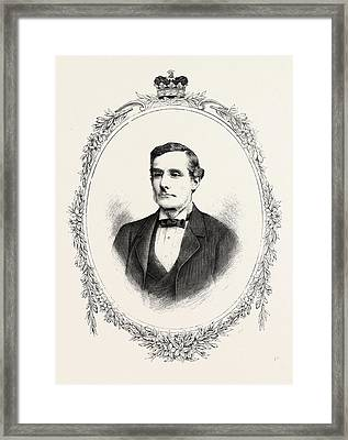 The Duke Of Westminster K,g, Engraving 1882, Uk, Britain Framed Print