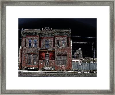 The Dumas Brothel - Butte Montana Framed Print by Daniel Hagerman