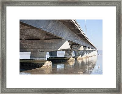 The Dumbarton Bridge In The South Bay Area California 5dimg2638 Framed Print by Wingsdomain Art and Photography