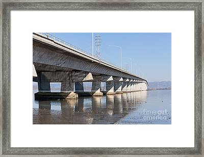 The Dumbarton Bridge In The South Bay Area California 5dimg2650 Framed Print by Wingsdomain Art and Photography