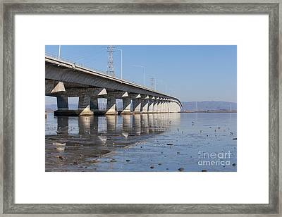 The Dumbarton Bridge In The South Bay Area California 5dimg2652 Framed Print by Wingsdomain Art and Photography