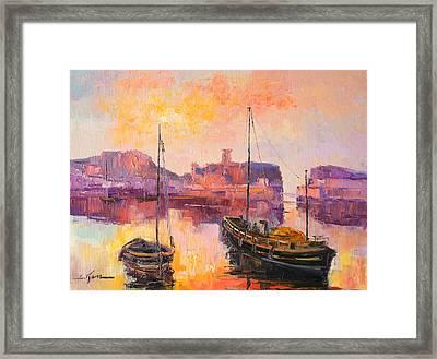 The Dunbar Harbour Framed Print