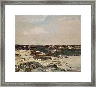 The Dunes At Camiers Framed Print by Charles Francois Daubigny