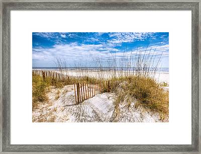 The Dunes Framed Print by Debra and Dave Vanderlaan