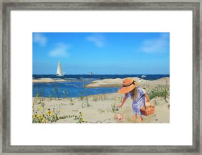 Framed Print featuring the photograph The Dunes by Mary Timman