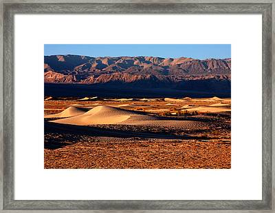 The Dunes Of Death Valley Framed Print by David Toussaint