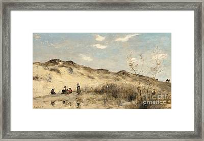The Dunes Of Dunkirk Framed Print by Jean Baptiste Camille Corot