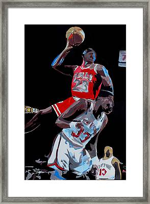 The Dunk Framed Print by Don Medina