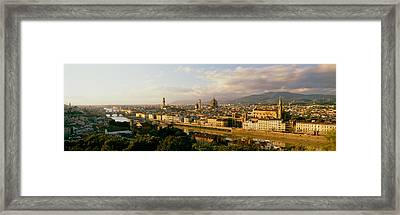 The Duomo & Arno River Florence Italy Framed Print by Panoramic Images