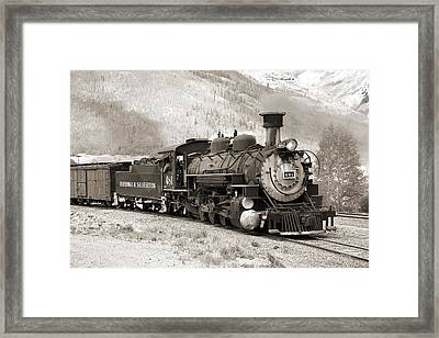 The Durango And Silverton Framed Print
