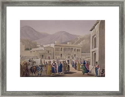 The Durbar-khaneh Of Shah Framed Print