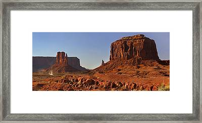 The Dusty Trail - Monument Valley Framed Print by Mike McGlothlen