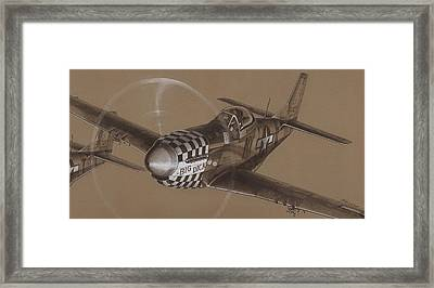 The Duxford Boys Drawing Framed Print by Wade Meyers
