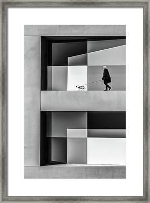 The E Walk Framed Print
