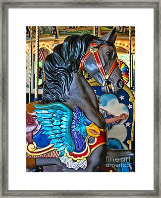The Eagle And Horse Framed Print by Colleen Kammerer