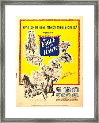 The Eagle And The Hawk, Us Poster, 1950 Framed Print