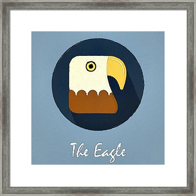 The Eagle Cute Portrait Framed Print