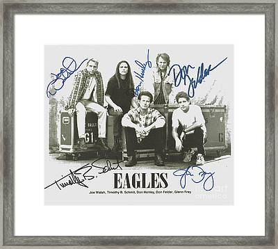 The Eagles Autographed Framed Print by Desiderata Gallery