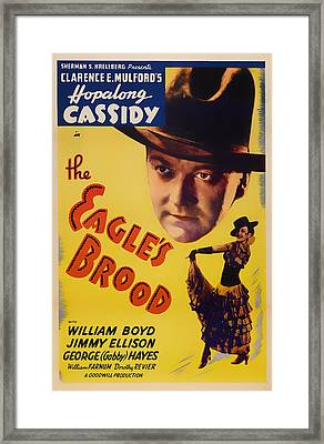 The Eagle's Brood Movie Poster 1935 Framed Print by Mountain Dreams