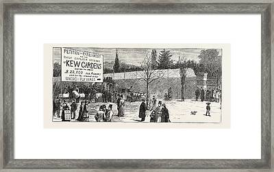 The Earlier Opening Of Kew Gardens  Scene On Easter Monday Framed Print