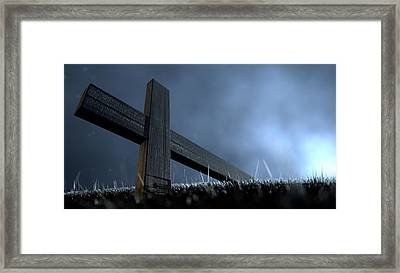The Early Morning Crucifixion Framed Print by Allan Swart