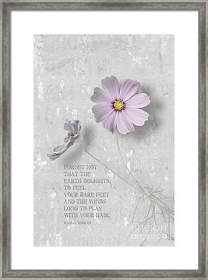 The Earth Delights Framed Print