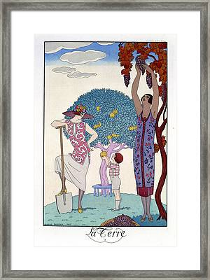 The Earth Framed Print by Georges Barbier