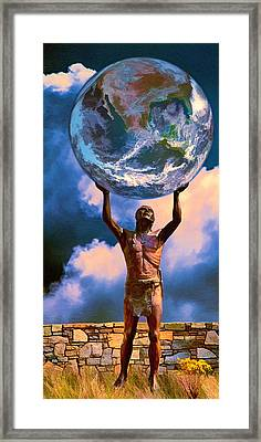 The Earth Is In Our Hands Framed Print