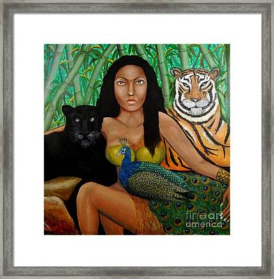 Framed Print featuring the painting The Earth Woman by Saranya Haridasan