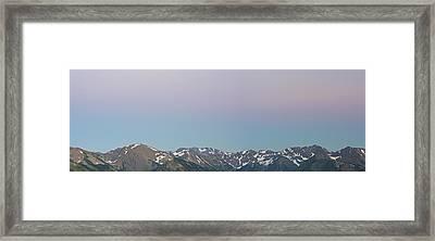 The Earth's Shadow Framed Print