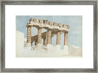 The East End And South Side Of The Parthenon, C.1813 Wc & Graphite On Paper Framed Print