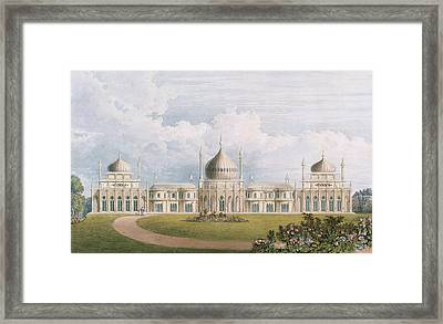 The East Front Framed Print by English School