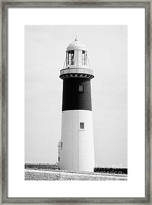 The East Light Lighthouse Altacarry Altacorry Head Rathlin Island Northern Ireland Framed Print by Joe Fox