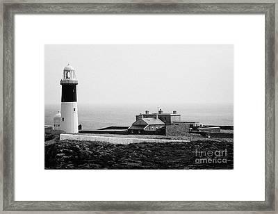 The East Light Lighthouse And Buildings Altacarry Altacorry Head Rathlin Island Northern Ireland Framed Print by Joe Fox