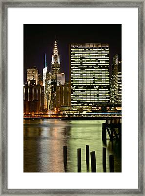 The East River Framed Print by JC Findley
