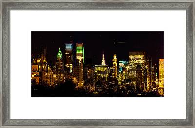 The East Side At Night Framed Print by Chris Lord
