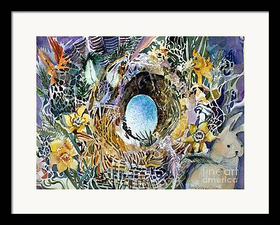 March Hare Mixed Media Framed Prints