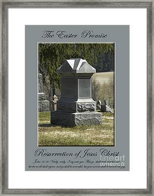 The Easter Promise Monument Card Framed Print